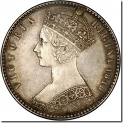 gothic_florin queen victoria elaborate head