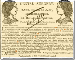 replacement teeth in 1861