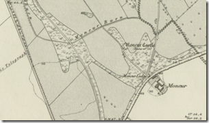 moncur castle 1867 survey map