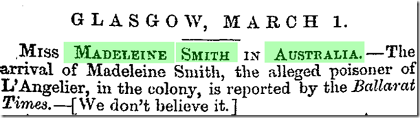 glasgow heral 1 march 1858